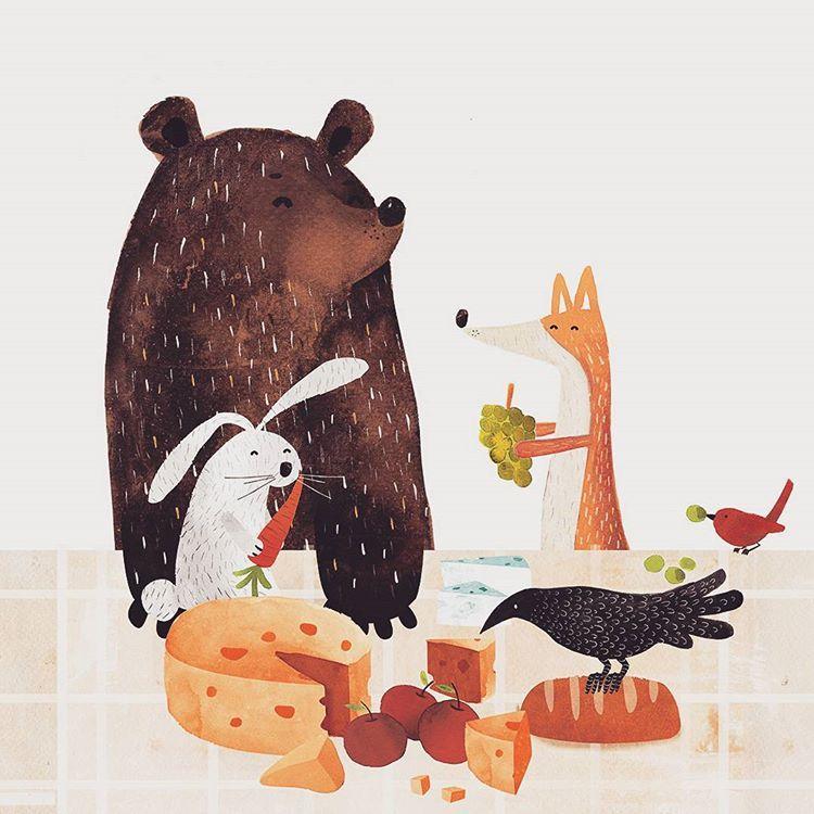 """""""Mis dibujos también han estado celebrando estás fechas comiendo sin parar /// They also have been celebrating christmas by eating a lot #art…"""""""