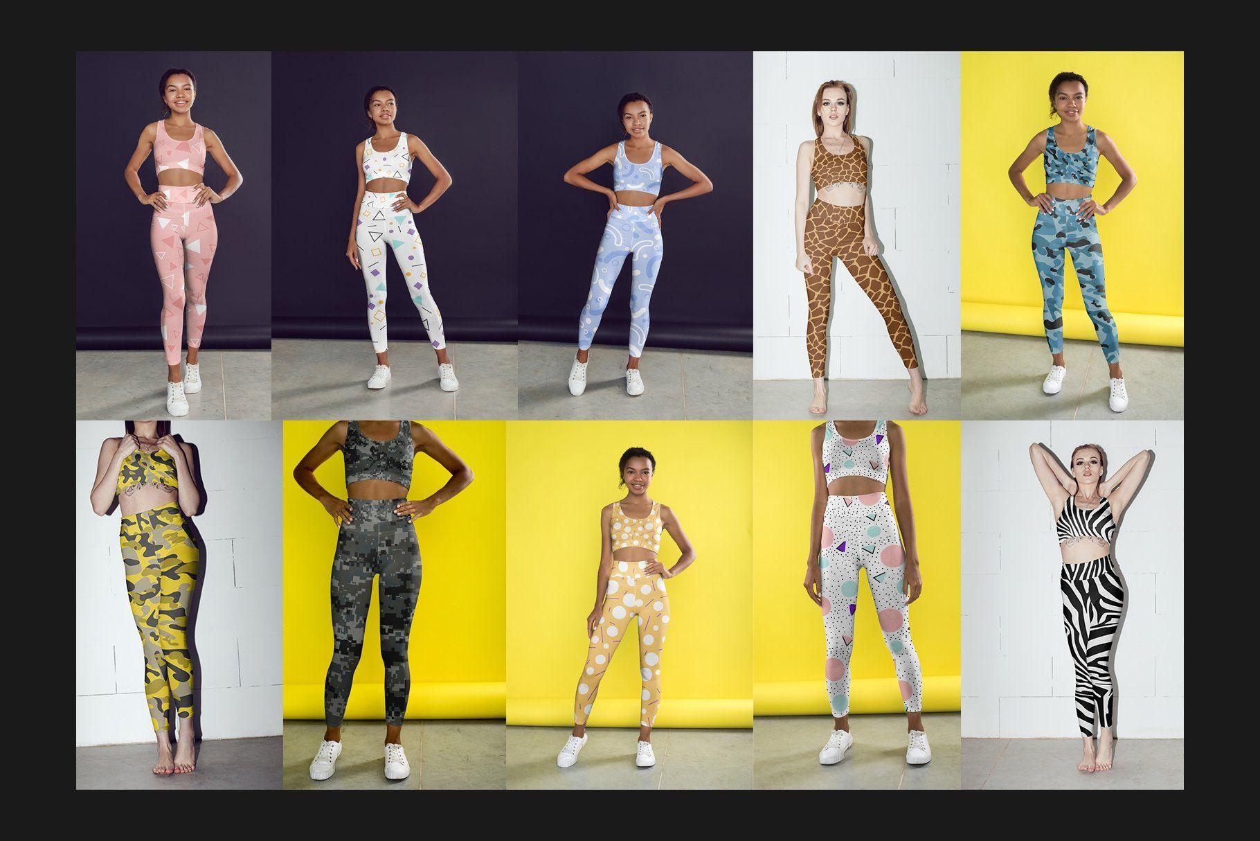 Download 100 Leggings Mock Up Set In 2020 Tank Outfit Logo Design Mockup
