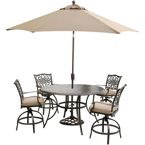 just for you lauritsen 5 piece bar height dining set with cushions rh pinterest com