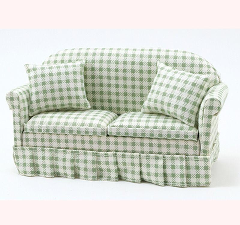 Reutter Porcelain Dollhouse Miniature Chippendale Lounger Couch