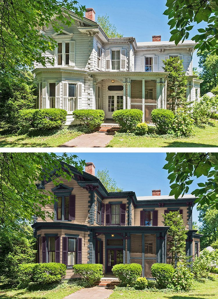 before and after rendition of paint colors houses i love in 2019 rh pinterest com