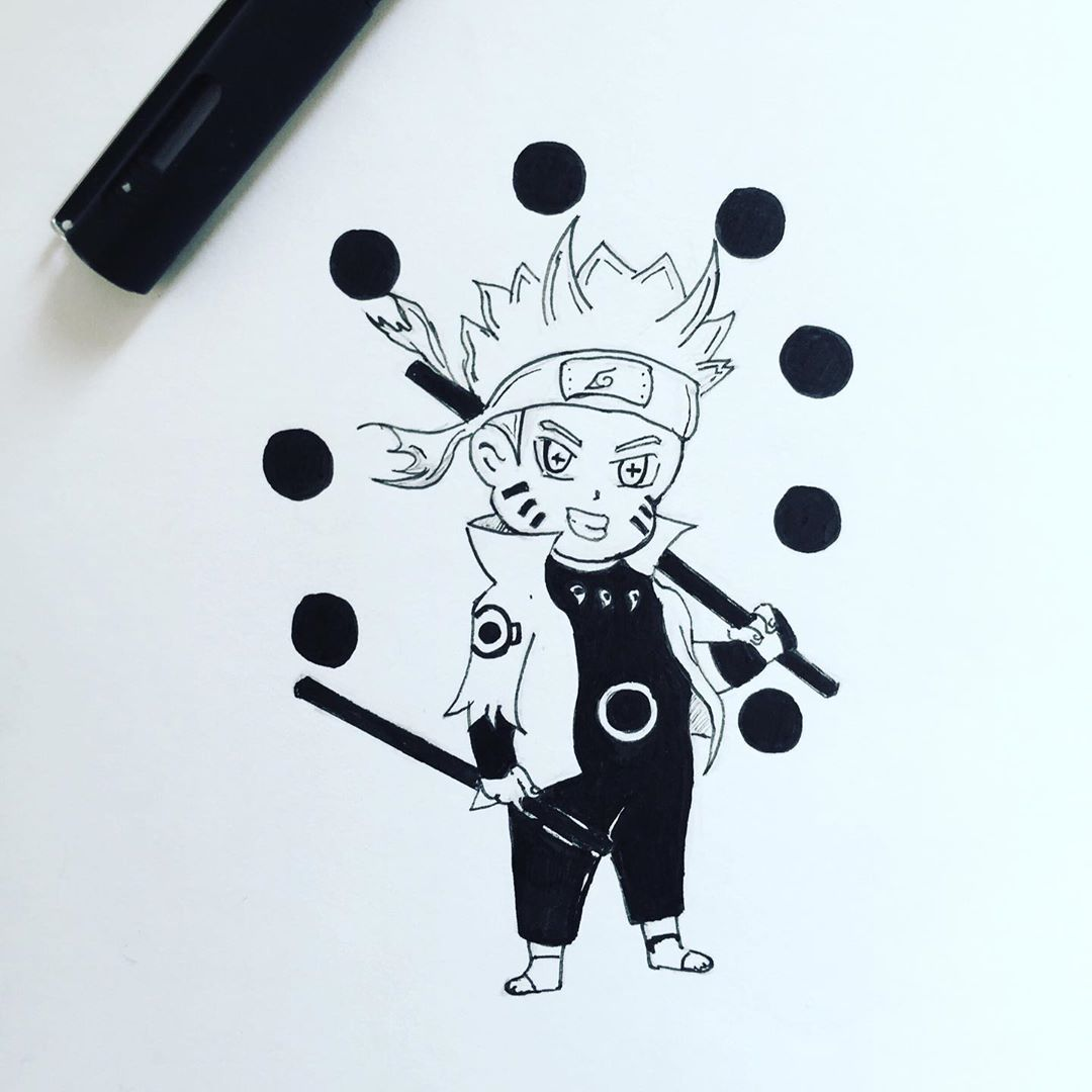 Chibi Naruto Sage Of Six Paths In 2020 Naruto Drawings Kawaii