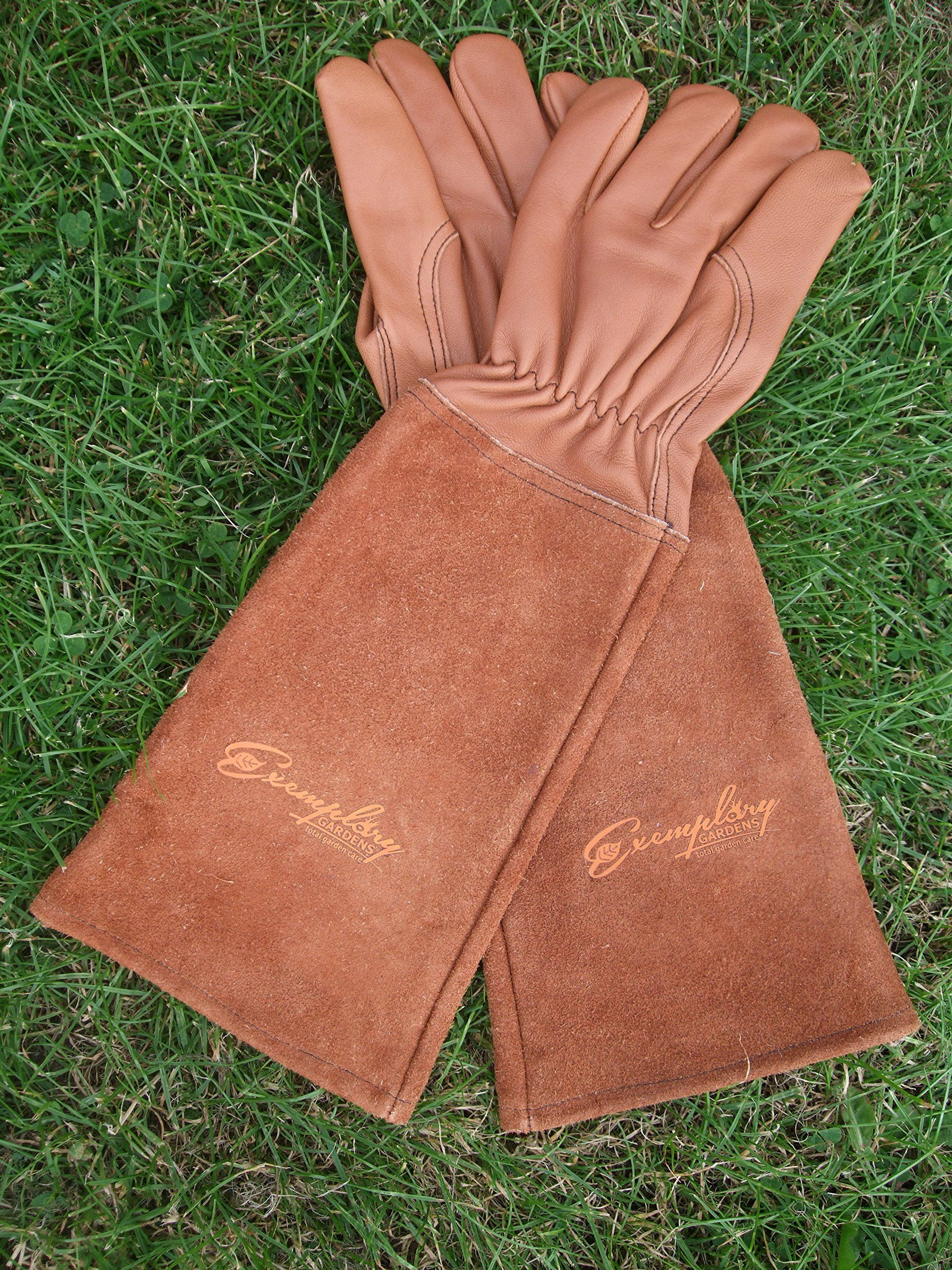 Rose Pruning Gloves For Men And Women. Thorn Proof Goatskin Leather Gardening  Gloves With Long Cowhide Gauntlet To Protect Your Arms Until The Elbow  Medium ...