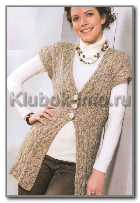 Узоры вязания для жилета женского