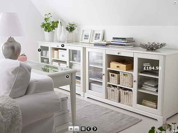 Liatorp Sideboard White  Liatorp Organizations And Dark Wood Captivating Ikea Storage Living Room Design Decoration