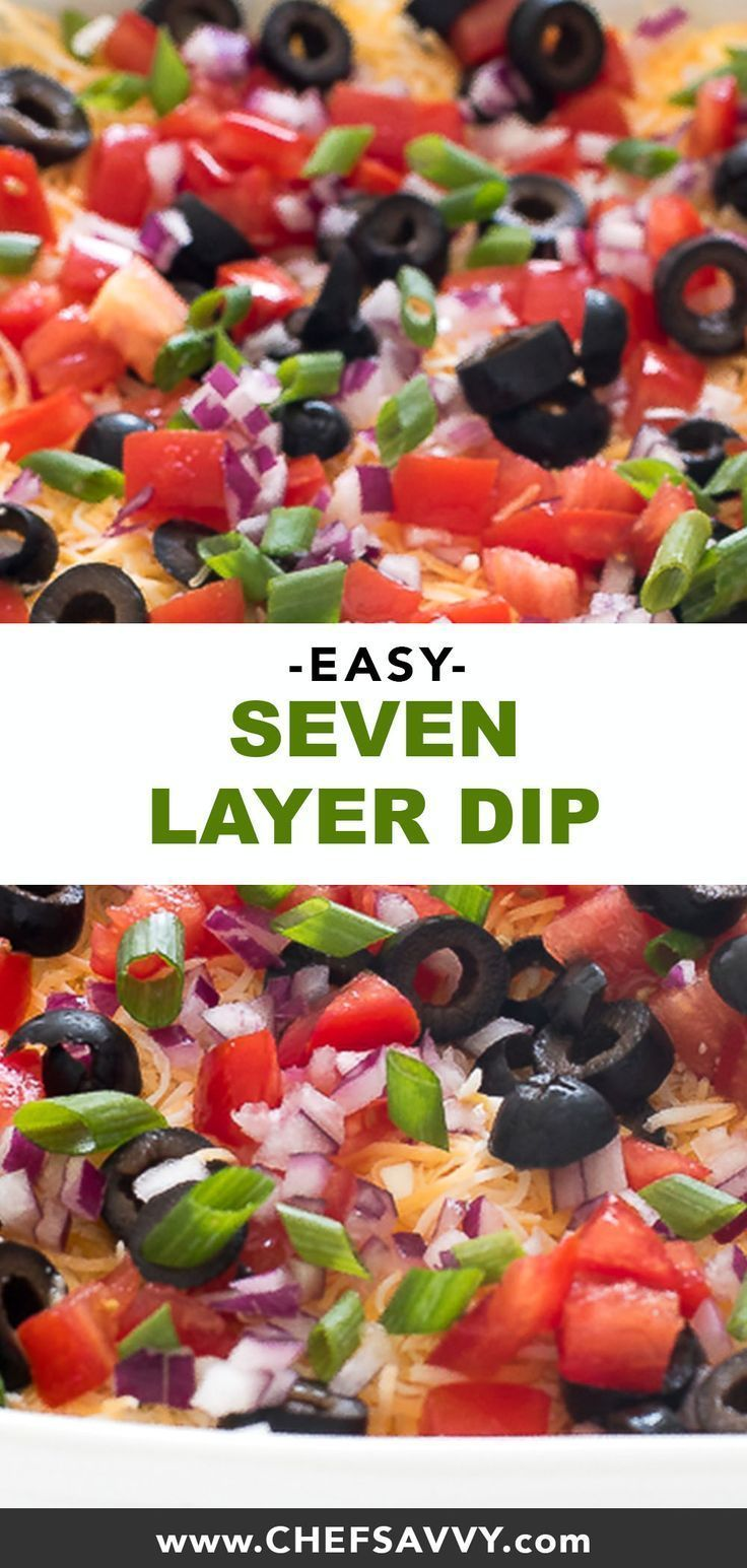 #sevenlayerdip #chefsavvycom #footballfood #vegetables #appertizer #favorites #appetizer #partyfood #7layerdip #football #tortilla #perfect #parties #mexican #loadedEasy 7 Layer Dip Fall is here and that means football season! This Easy 7 Layer Dip is the perfect appetizer for parties or game day. Serve with tortilla chips and vegetables! Loaded with tons of Mexican favorites! | Fall is here and that means football season! This Easy 7 Layer Dip is the perfect appetizer for parties or game... #7l #7layerdip