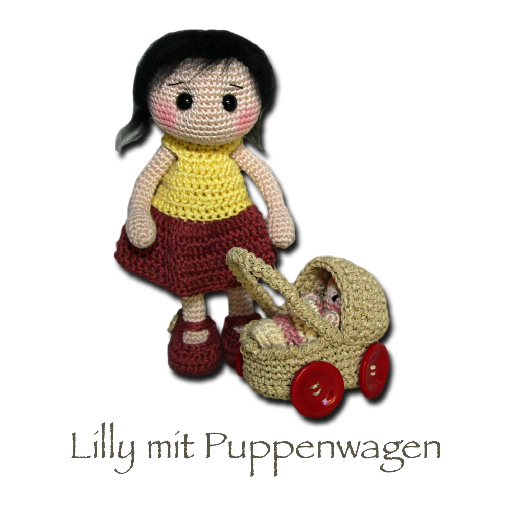 Lilly with doll carriage | crochet dolls free pattern | Pinterest ...