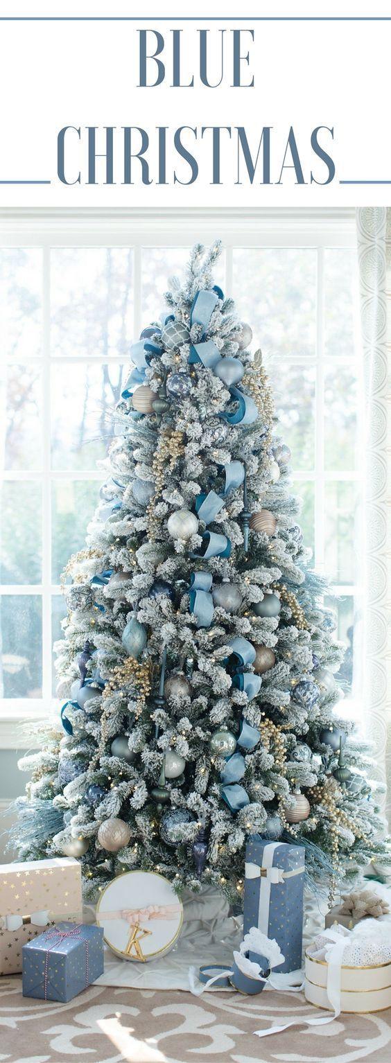 blue christmas decorating ideas a tour of our home blues rh pinterest com