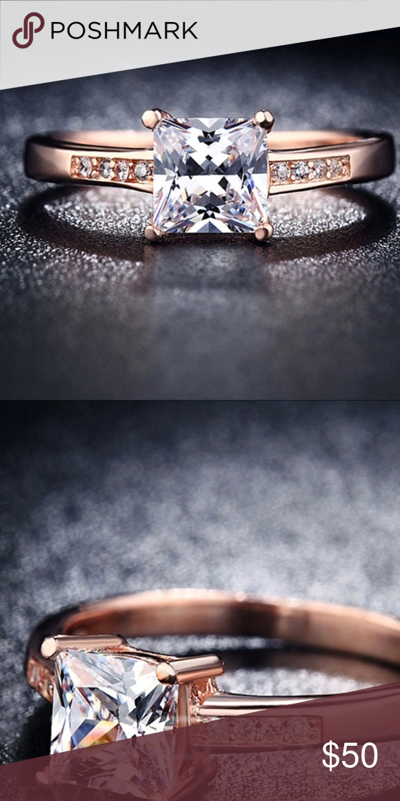 New 18 k rose gold engagement ring
