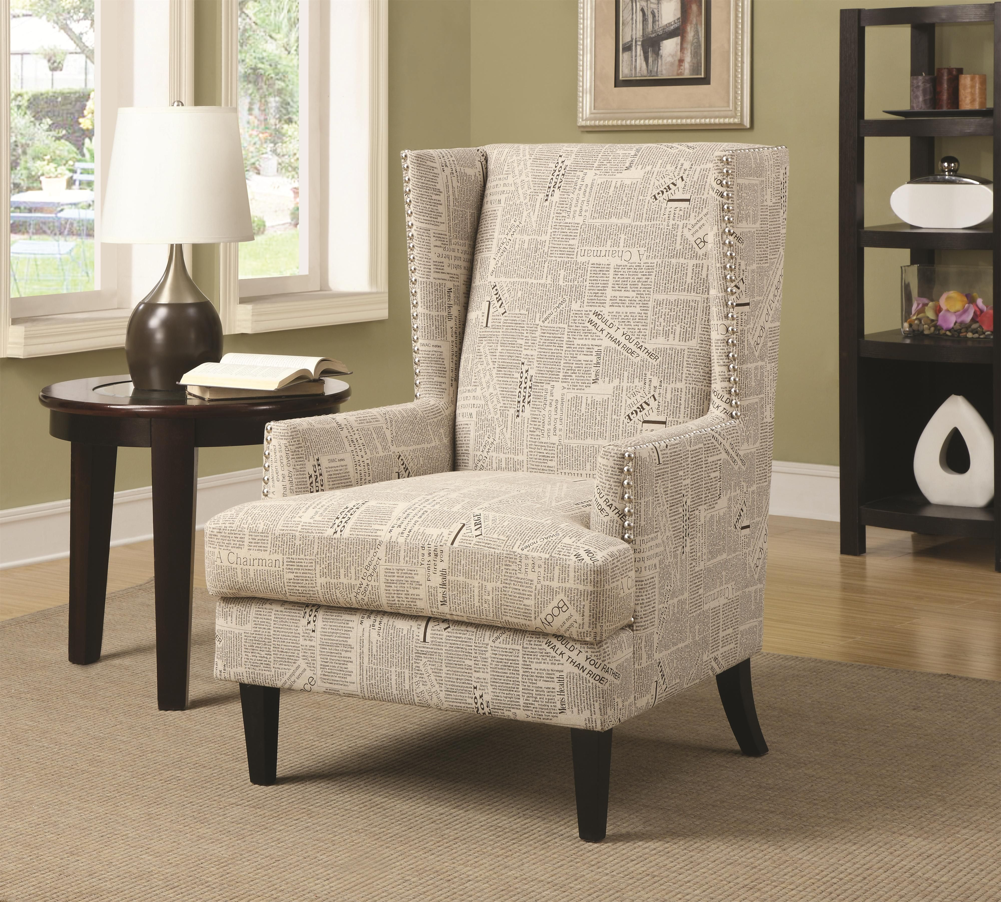 Coaster Accent Seating Wing Chair with Transitional