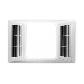 2 5 sone 50 cfm white bathroom fan with heater and light 129 lowes rh pinterest com