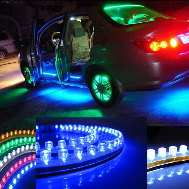 Led Light Strips For Cars Fascinating Car Styling 12V 24Cm Car Led Drl Light Strip For Daytime Running Decorating Inspiration