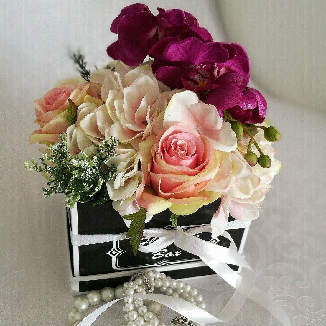 Flower Box Ze Storczykiem Swiateczne Atelier Flower Boxes Flowers Floral