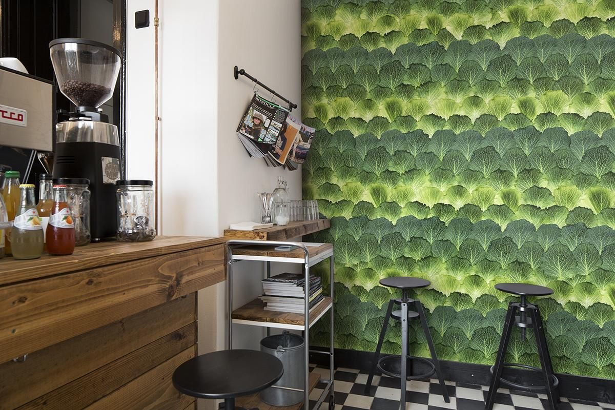 Design: Mr Perswall / Niclas Dahlgren    Who knew that cabbage leaves could be so beautiful? Green personalities couldn't dream of a more unique wallpaper. ✄ www.sved-tapeta.hu
