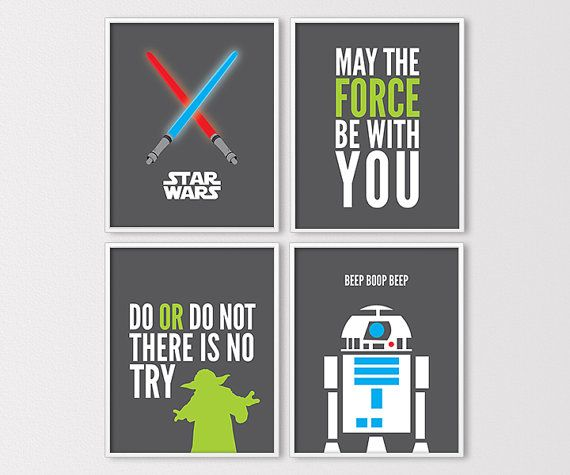 star wars wall art star wars prints star wars printables yoda rh pinterest com