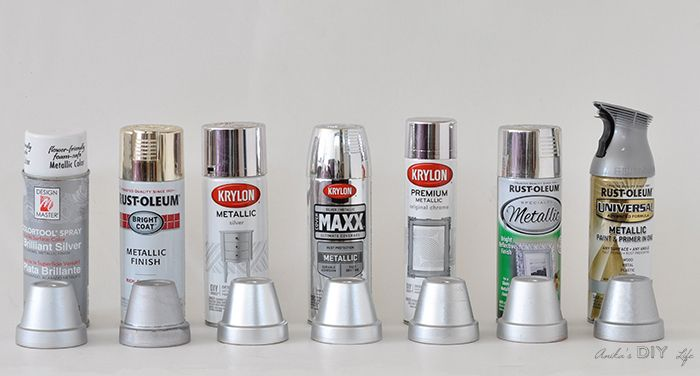 which is the best silver spray paint find the best metallic spray rh pinterest com