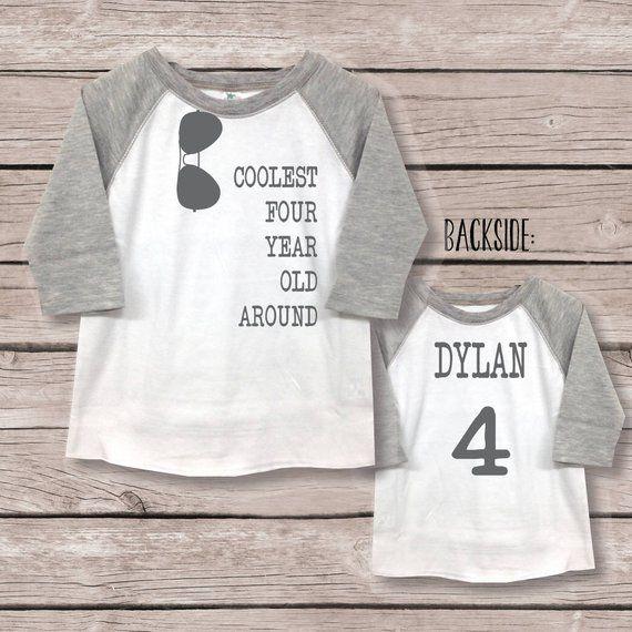 Fourth Birthday Shirt Boy Four Outfit 4th Birthd