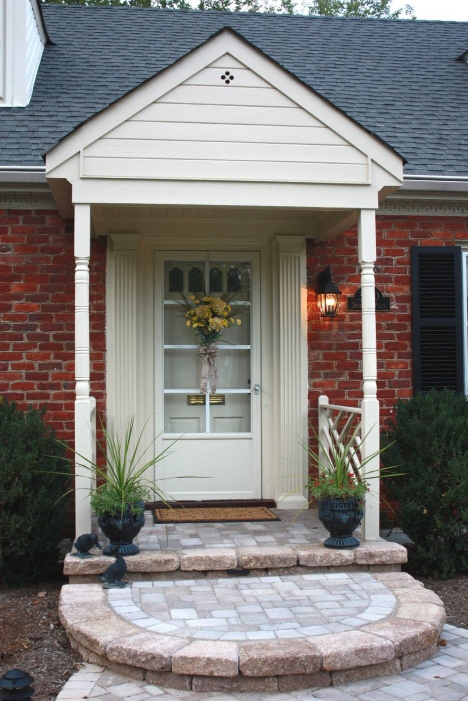 ideas of front porch pavers charming small front porch decoration using red brown brick front