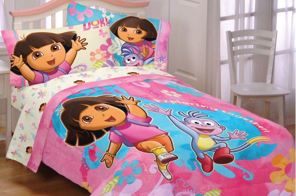 dora toddler bedding set kiddie bedrooms girls bedding sets rh pinterest com