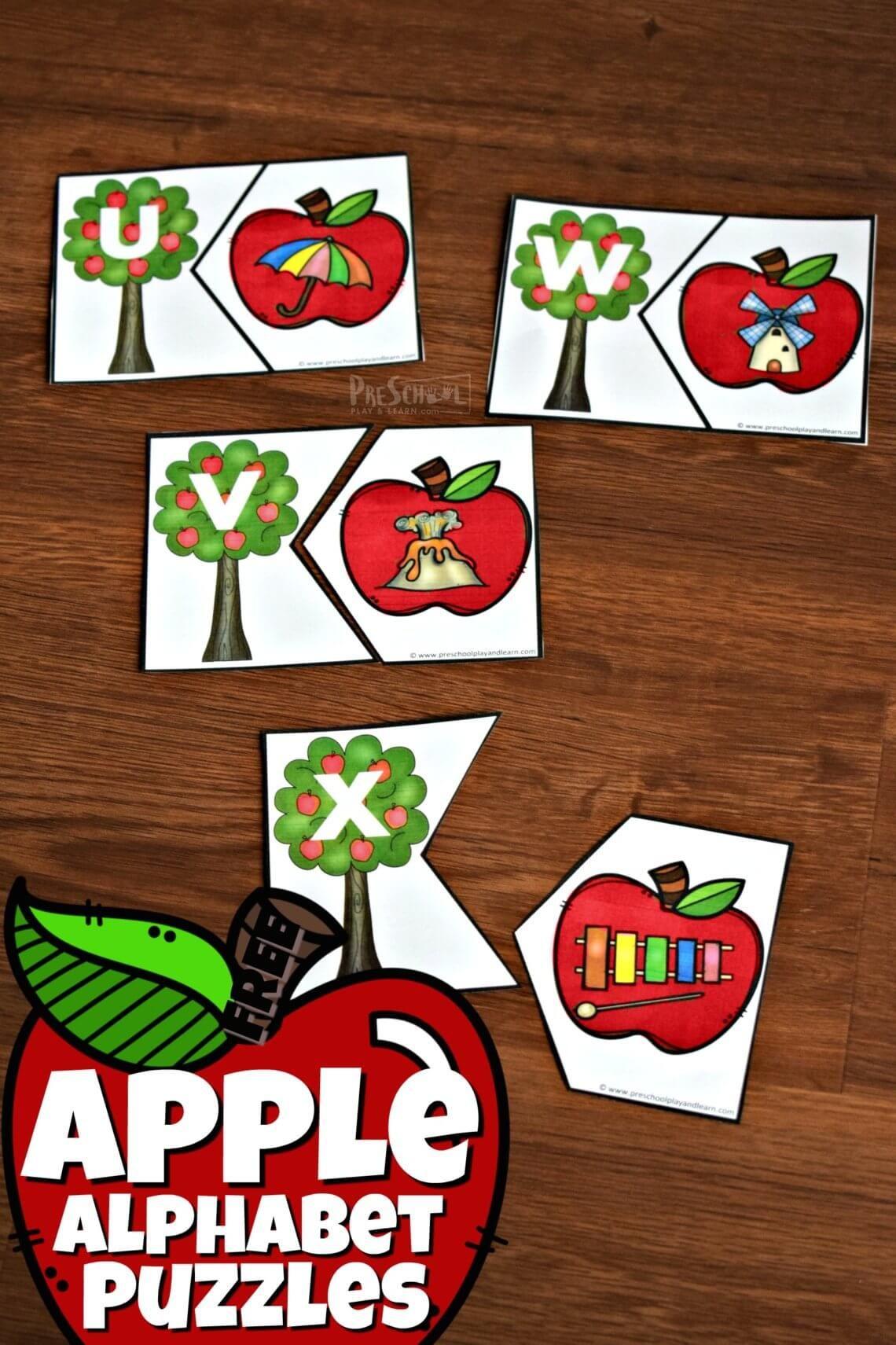 Apple ABC Game Preschool games, Apple activities