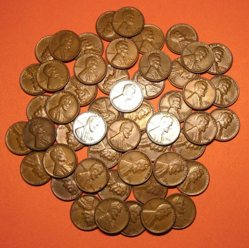 Set of 1940-1958 Lincoln Wheat Cents--incl PDS--51 Coins