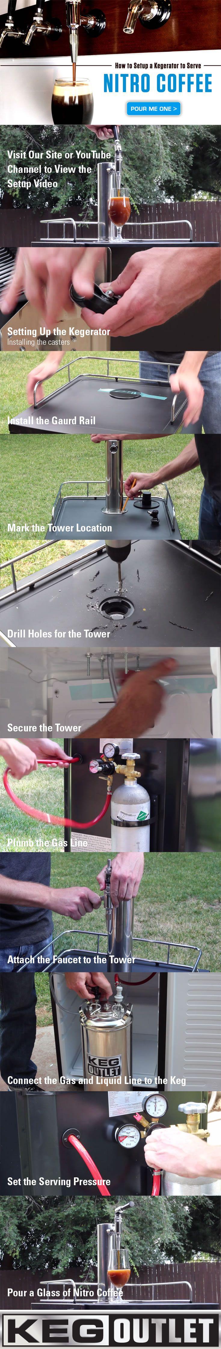 How to setup a kegerator to serve nitro coffee grifos de