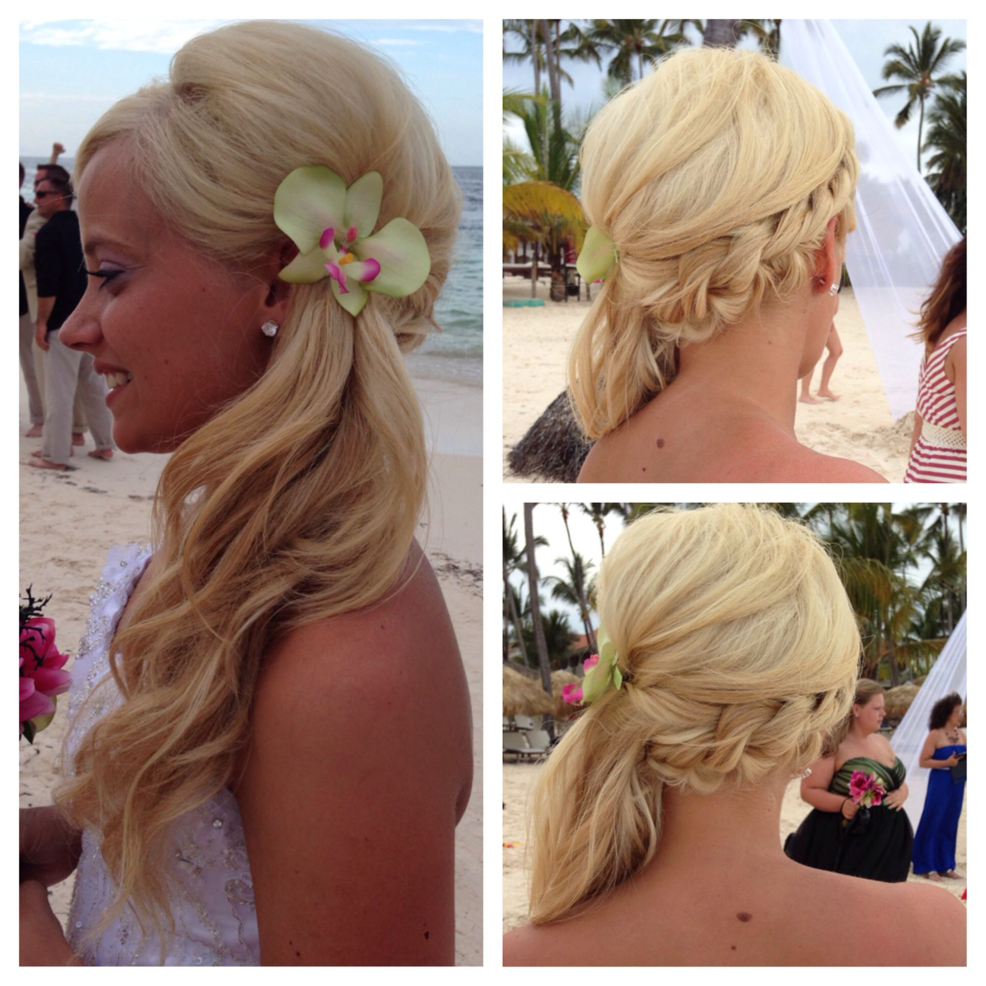wedding hair. beach wedding. soft side braid | hair and