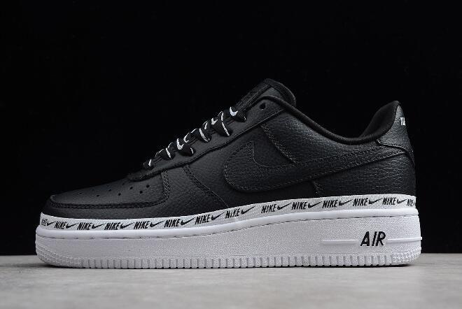 nike air force 1 overbranded black