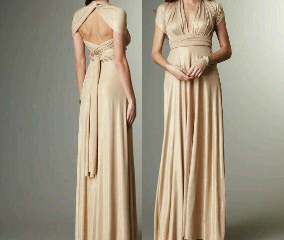 Cream Convertible Dress