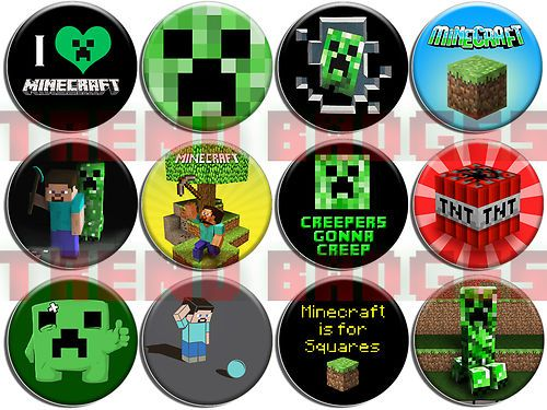3 99 Minecraft Badge Set Online Gaming Reddit Gamer Internet Culture Geek Ebay Festa