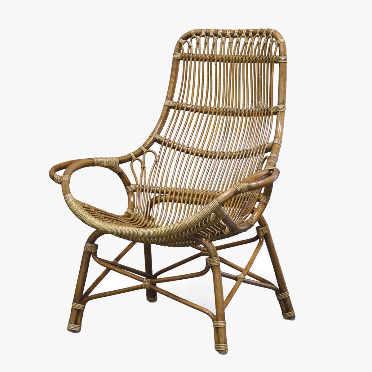 Retro Rattan High Back Chair Shop Palecek Rattan Chairs Dear