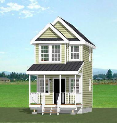 12x16 Tiny House Pdf Floor Plan 367 Sq Ft Model 6