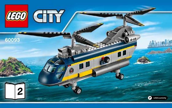 Lego Deep Sea Helicopter Instructions 60093 City Lego Pinterest