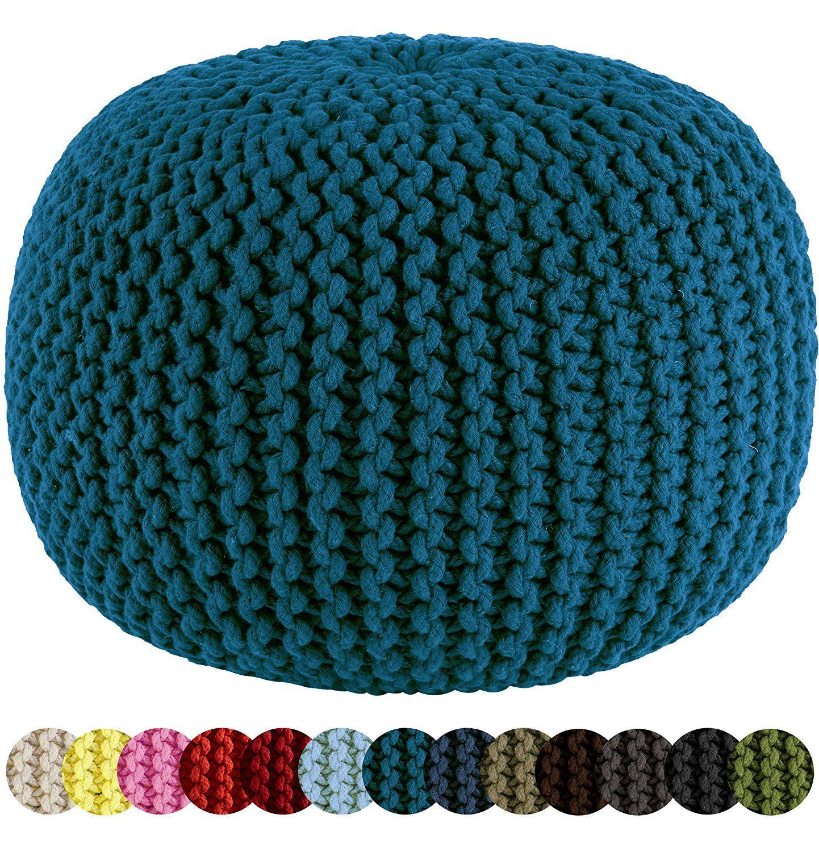 Pouf KnittingOttoman Hand Craft 100/% Cotton Stitch Braid Cord Cable Dori New