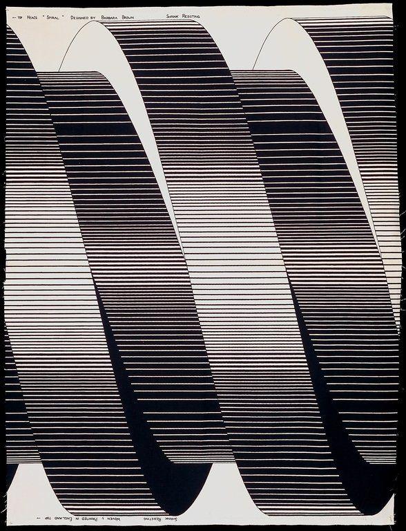 """Spiral"" by Barbara Brown - 1969."