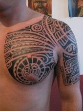 Photo of Tattoo Pictures of Polynesian Art on Chest for Men by Po'oino –  Tattoo Pictures…