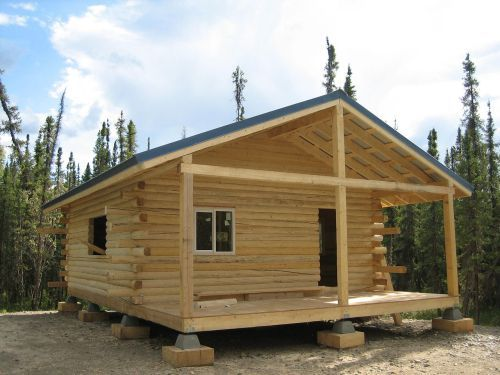 fema log cabin kit with machined logs built in eagle alaska rh pinterest com