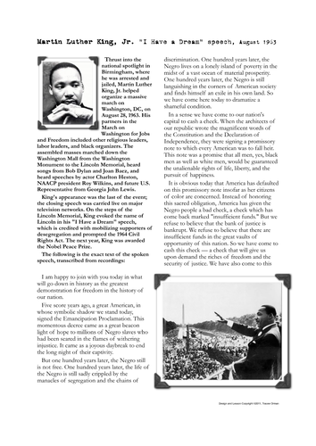 martinlutherkingdreamspeechactivities pdf african history  martin luther king speech essays martin luther king speech analysis essays over martin luther king speech analysis essays martin luther king speech