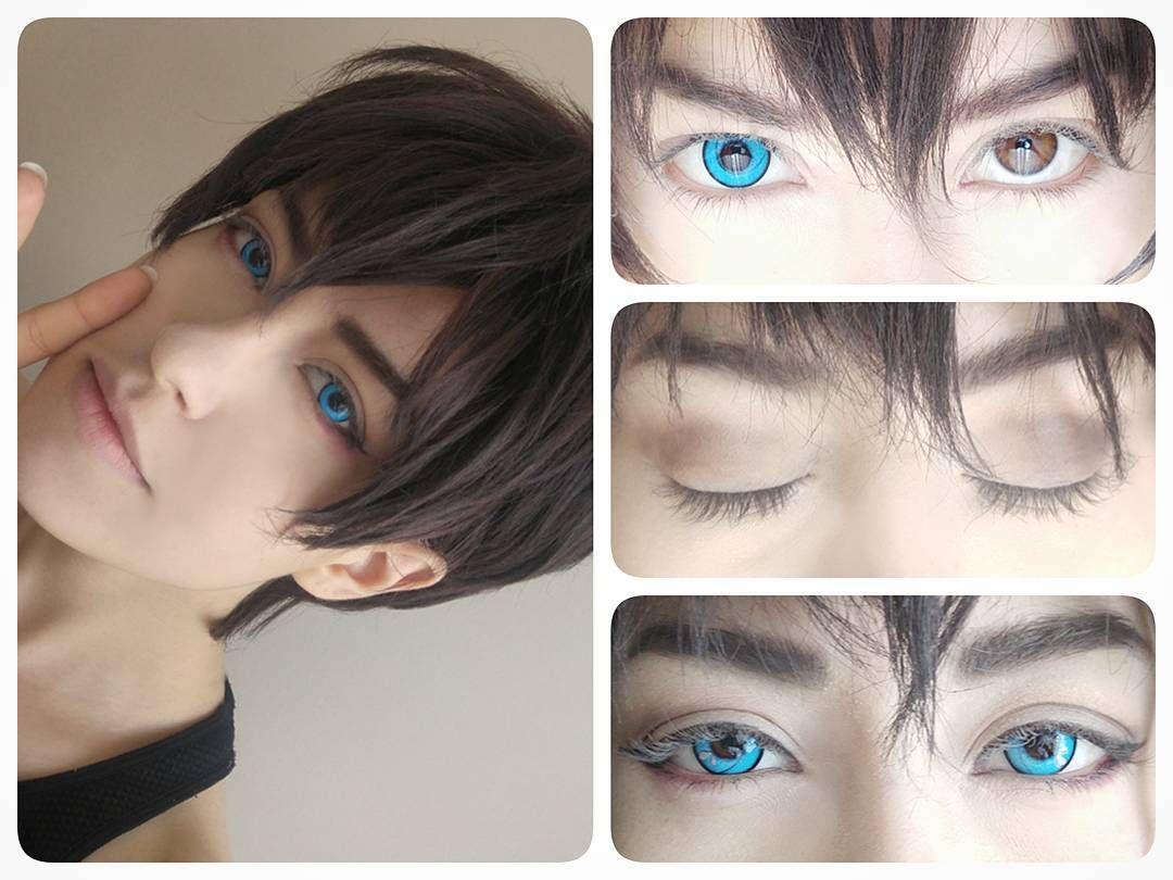 Bright neon blue eyes geo cpa7 uniqso anime eyes