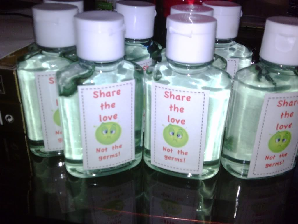 Sharethlove Not The Germs Hand Sanitizer How To Make Labels