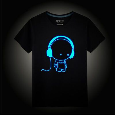 c02bf5790a3 Barato Crianças Neon Impressão T Camisa Estilo Verão Clube Partido Das  Crianças do Algodão crianças Neon Camisas de Impressão T Luz Da Noite Dos  Desenhos ...