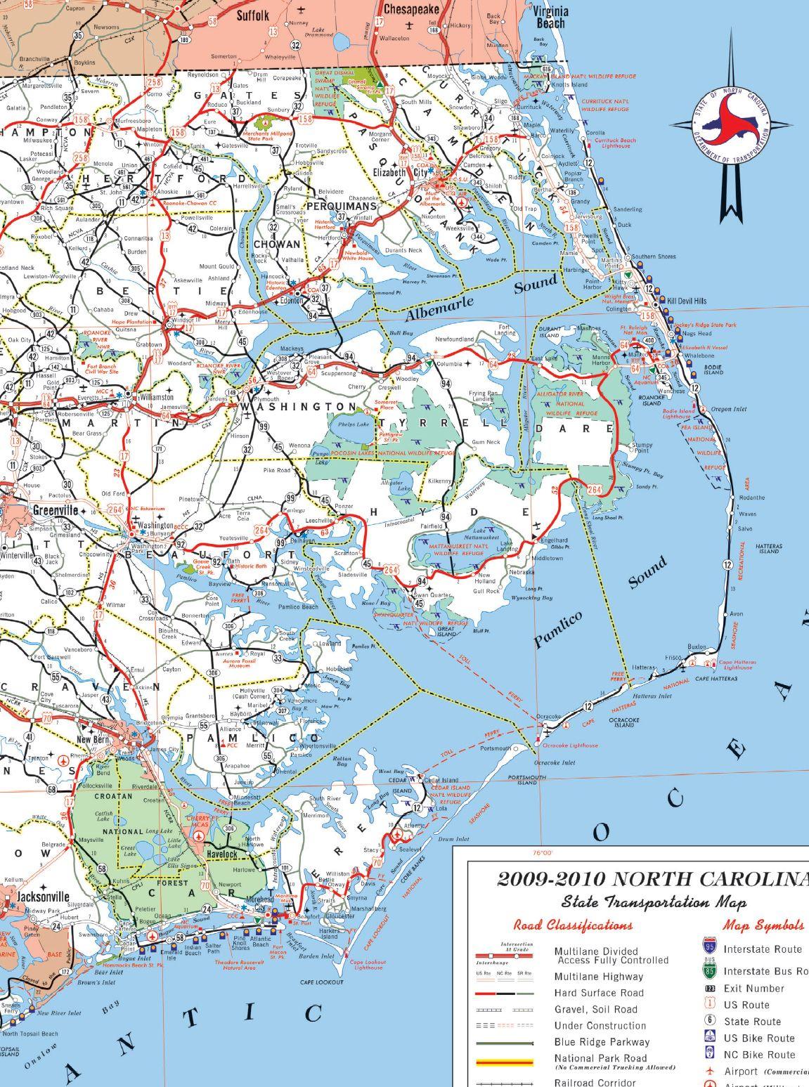 map of north carolina shore north carolina north carolina map rh pinterest com