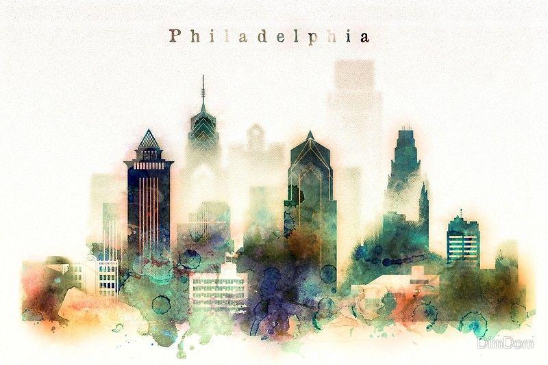 philadelphia skyline art free