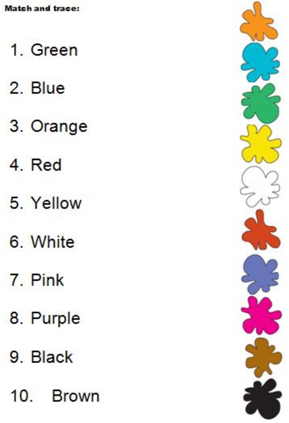 Colours Match Interactive Worksheet Color Worksheets Color Worksheets For Preschool English Lessons For Kids Esl kindergarten coloring worksheets