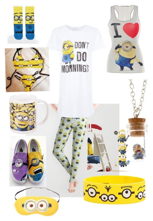 """""""Theme 42 minions"""" by mama-mia2003 ❤ liked on Polyvore featuring мода, ASOS, Vans и RoomMates Decor"""