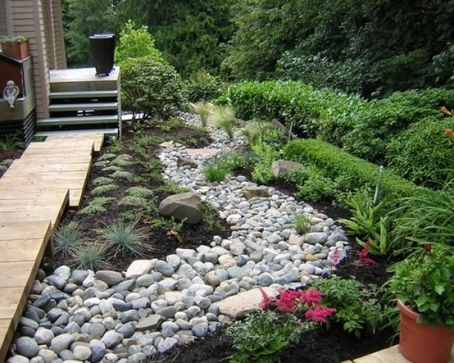 Delaware Blend Stone The Stone Center Dry Garden Design River Rock Landscaping Landscaping On A Hill