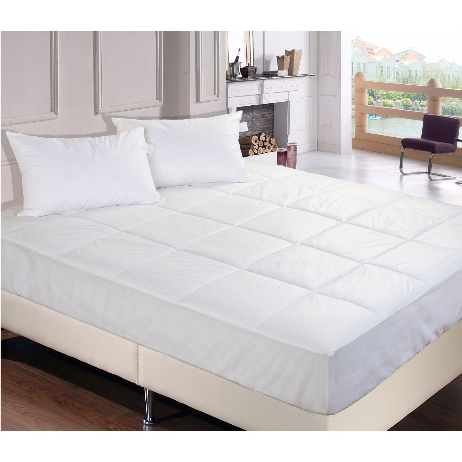 "Trahan 3"" Down Alternative Mattress Topper Mattress pad"