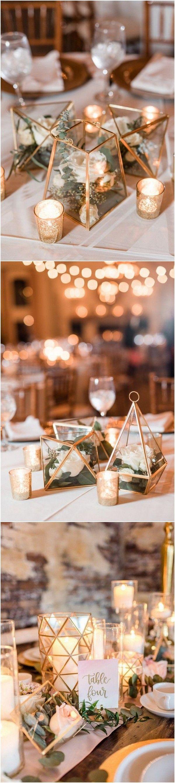 Trending – 20 Industrial Geometric Wedding Centerpieces for 2019 Trending – 20 Industrial Geome