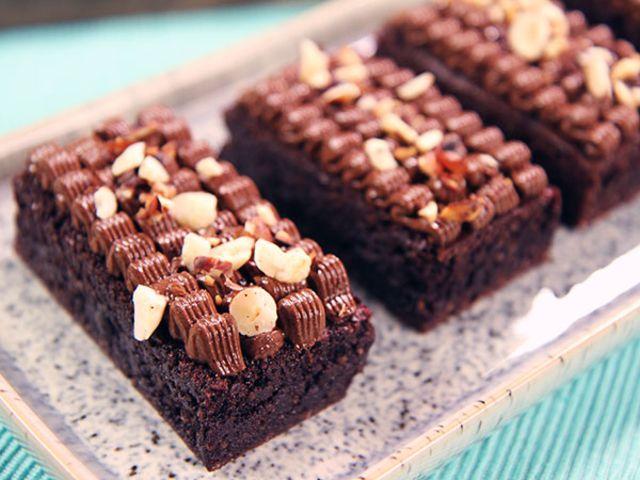 Glutenfri Brownie Med Nutellafrosting Recept Efterrattsrecept Bakrecept Brownies