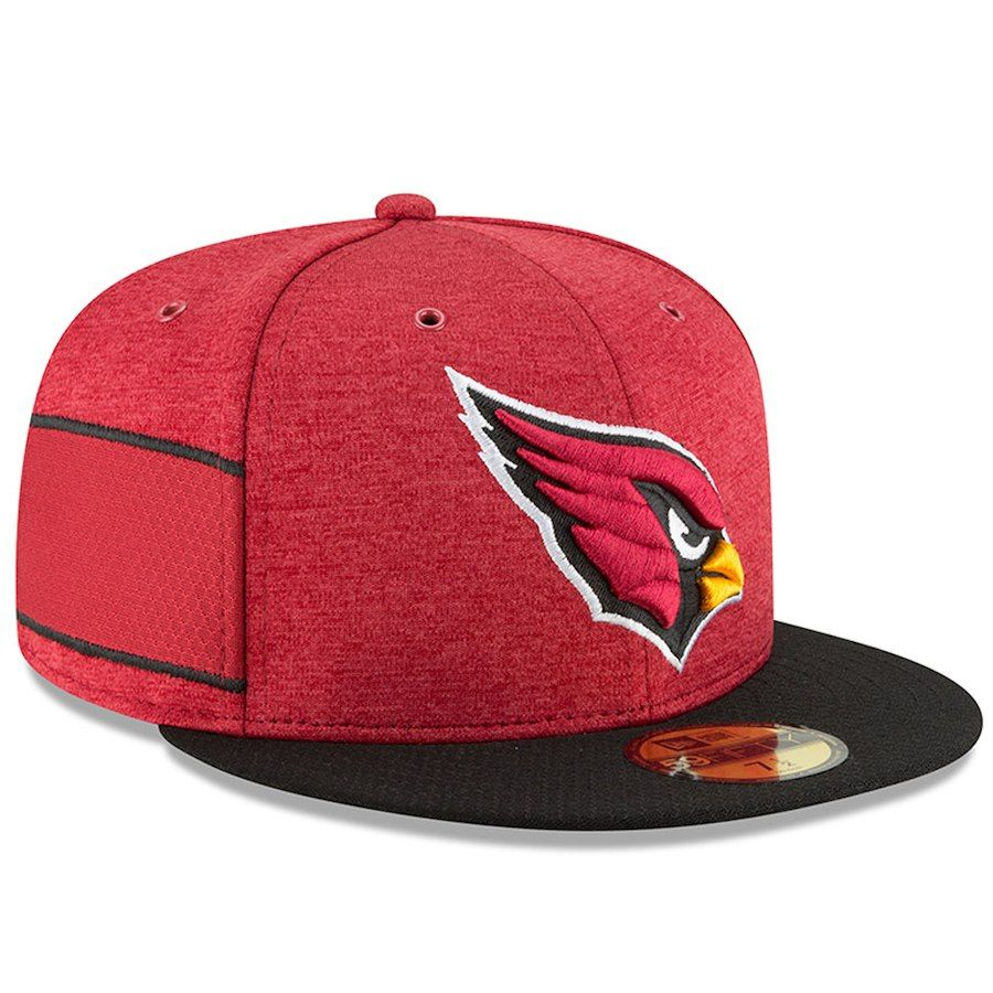 1da4c440a1b Arizona Cardinals New Era 2018 NFL Sideline Home Official 59FIFTY Fitted Hat  – Cardinal Black